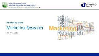 Marktforschung (Uni-Siegen, SoSe 2021): 1. Einführung
