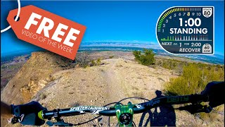 FREE Scenic Mountain Bike Spin Video for Indoor Cycling. Lunch Loops POWER FPV