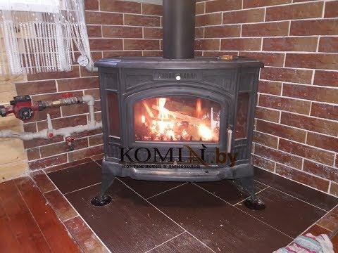 Печь Kratki Koza k9 с водяной рубашкой, для отопления дома. Первый запуск и описание горения печи
