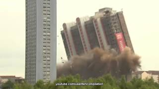 Смотреть онлайн Подборка сносов высотных зданий