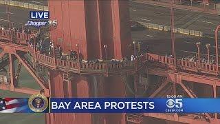 Crowd Gathers To Form Unity Chain Across Golden Gate Bridge
