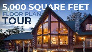 Luxury Log Home Tour!