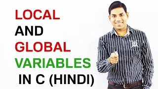 Local and Global variables in C (HINDI)