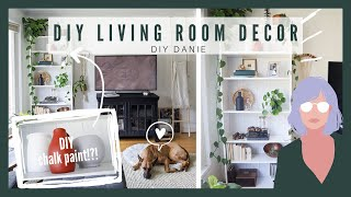 DIY Chalk Paint!?! IKEA Billy Bookcase Makeover + Simple Home Decor Projects | Living Room Part 2