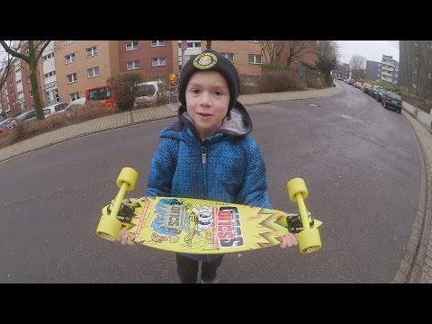 Solid Kinder Longboard Test - Nicolino -