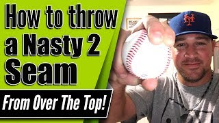 How To Throw A NASTY 2 Seam From OVER THE TOP! - Pitching Grips [Office Hours w Coach Madden Ep.108]