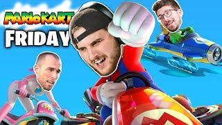 DESTROYING at Mario Kart 8 with Eric and Jack!