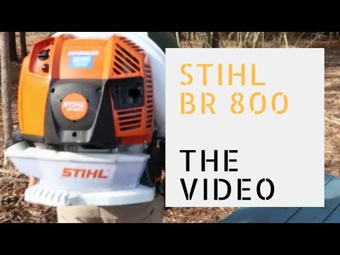Stihl Br 800 Backpack Blower Serious Review and Demo