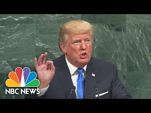 President Donald Trump Tells United Nations: 'I Will Always Put America First' | NBC News