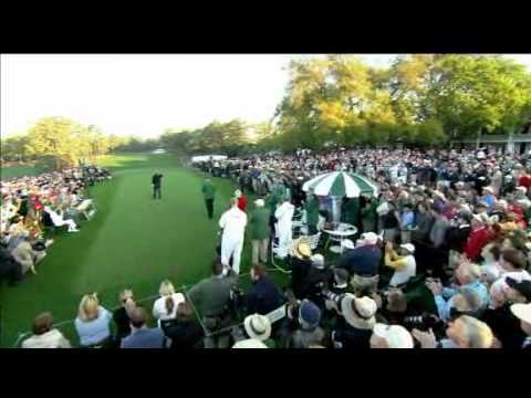 Jack Nicklaus 2011 Masters ceremonial opening tee shot with Arnold Palmer