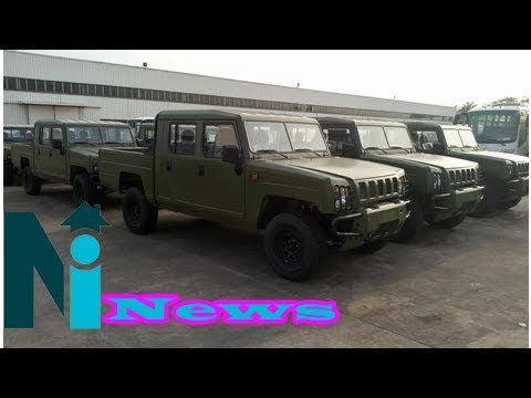 Photos of Innoson Military vehicles purchased by Nigerian Army