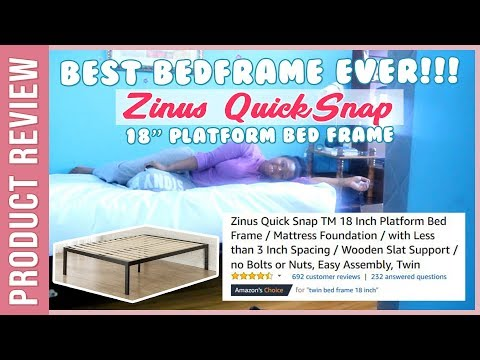 Best Bedframe Ever! Zinus Quick Snap 18 Inch Platform Bed Frame Review