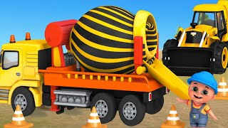 Trucks Construction For Kids - Excavator, Dump Truck, Mixer Truck - Toy Unboxing Jugnu Kid
