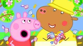 Peppa Pig Official Channel | Peppa Pig Helps Grandpa Pig's with Making a Pond