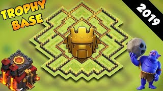 INSANE Town Hall 10 TROPHY Base Design 2019! CoC BEST Th10 Trophy Base Layout - Clash of Clans