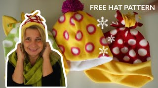 Fleece Hat Sewing Project | Free Pattern | Frocks & Frolics | Learn To Sew