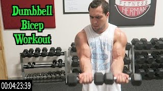Intense 5 Minute Dumbbell Bicep Workout by Anabolic Aliens