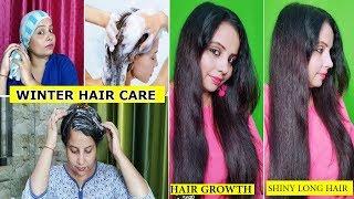WINTER HAIR CARE ROUTINE | No Hair-Fall, No Dandruff, No Dry Damaged Hair #haircare