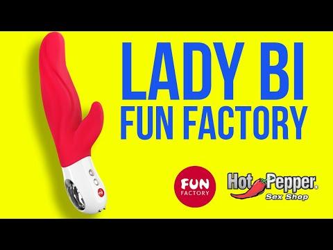 Vibrador Duplo em Silicone Lady Bi Fun Factory Vermelho