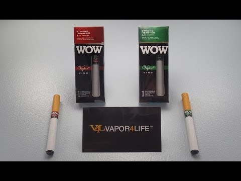 V4L: WOW Vapor King Disposable Electronic Cigarette Review