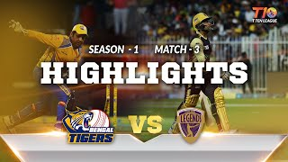T10 League Season 1,  Match 3,  Bengal Tigers Vs Punjabi Legends