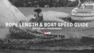 #1 Boat Wakeboard Begginer – Rope length & boat speed guide