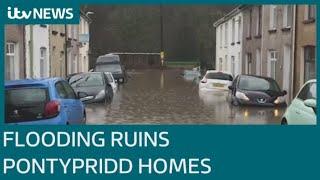 Storm Dennis destroys homes and businesses in Pontypridd | ITV News