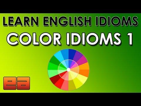 English Idioms - Color Idioms - 1
