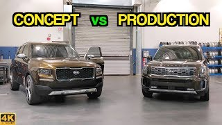 Kia Telluride CONCEPT Side-by-Side With PRODUCTION Model! // The American Story of Telluride: Part 3