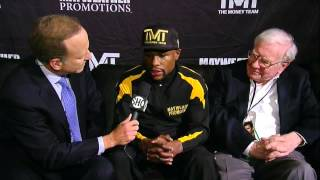 Mayweather & Warren Buffett - Pre-Fight Interview - SHOWTIME Boxing