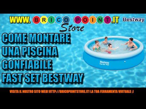 Come montare e fare la manutenzione di una piscina gonfiabile Fast Set Bestway