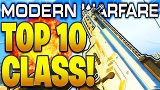 TOP 10 BEST CLASS SETUPS MODERN WARFARE 1.08 PATCH! COD MODERN WARFARE BEST GUNS + CLASS SETUPS!