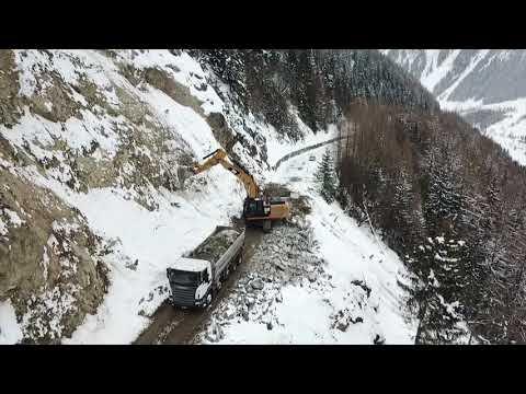 Eboulement Col de la Forclaz, janvier 2018