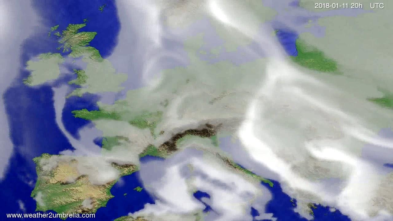 Cloud forecast Europe 2018-01-09