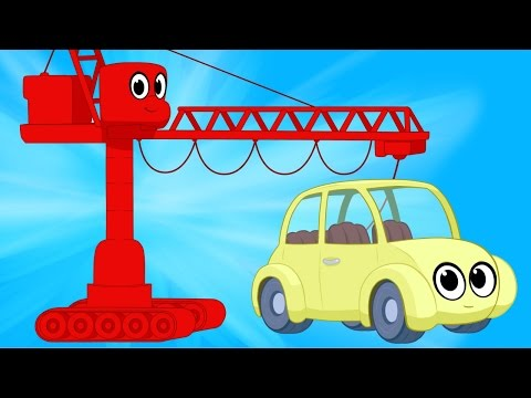 Cranes And Cars with Morphle - Animations For kids