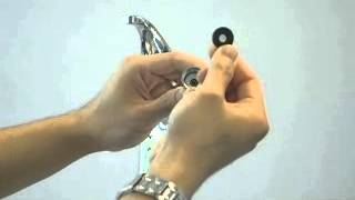 Maintenance - Spray head screen maintenance on a kitchen faucet