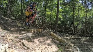 Carla Harris found Breeden Ridge Trail to be a great place to practice your MTB skills.