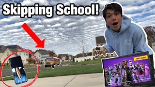 SKIPPING SCHOOL TO PLAY FORTNITE ALL DAY! *PARENTS FREAKED OUT*