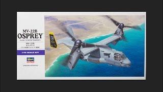 Hasegawa 1/72 MV-22B Osprey Scale Model Review