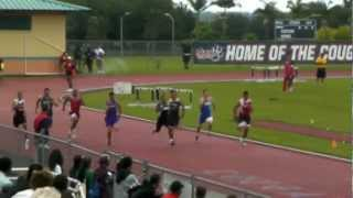 preview picture of video '2012 Hawaii State Track Boys 100m Run Finals'