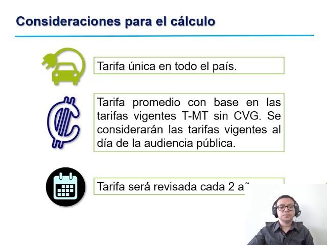 Sesión explicativa para conocer propuesta de tarifa de recarga en vehícul ..