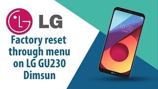How to Factory Reset through menu on LG Dimsun GU230?