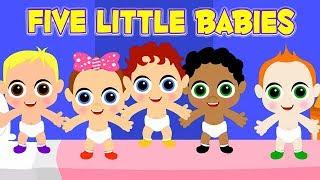 ห้าทารกน้อย | เพลงสำหรับเด็กทารก | Five Little Babies | Nursery Rhyme Song | Rhymes For Kids