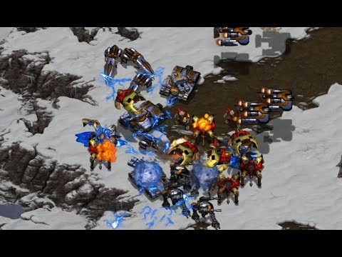 ISLAND SNOW MAP -  dronka67 (P) v AlfiO (T) on Snowbound - StarCraft  - Brood War REMASTERED