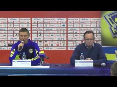Konferencja prasowa po meczu Arka - Stomil