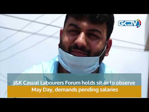 J&K Casual Labourers Forum holds sit-in to observe May Day, demands pending salaries
