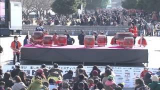 横浜消防出初式2016  和太鼓あらじん