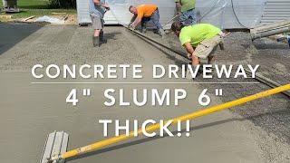 How to pour low slump stiff super strong concrete.
