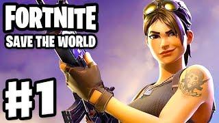Fortnite: Save the World - Gameplay Walkthrough Part 1 - Stonewood (PC)