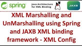 XML Marshalling and UnMarshalling using Spring and JAXB XML binding framework - XML Config